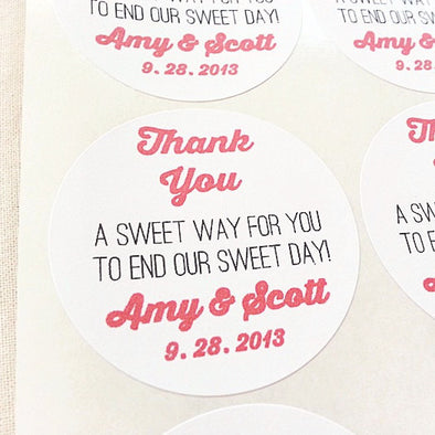 Sweet Mason Jar Labels. Wedding Candy Buffet Candy Bar Favors - Once Upon Supplies