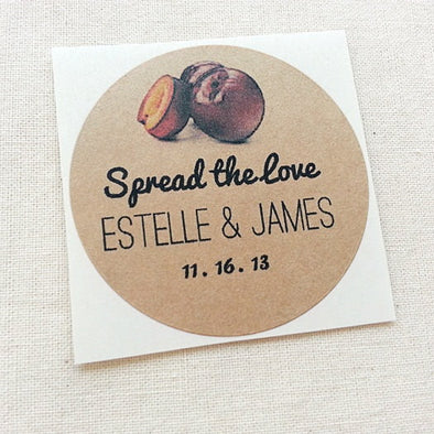 Plum Jam Preserve Labels - Mason Jar Wedding Favors Labels