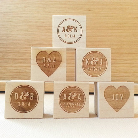 Personalized Wedding Rubber Stamp. Choose Your Design - Once Upon Supplies - 1
