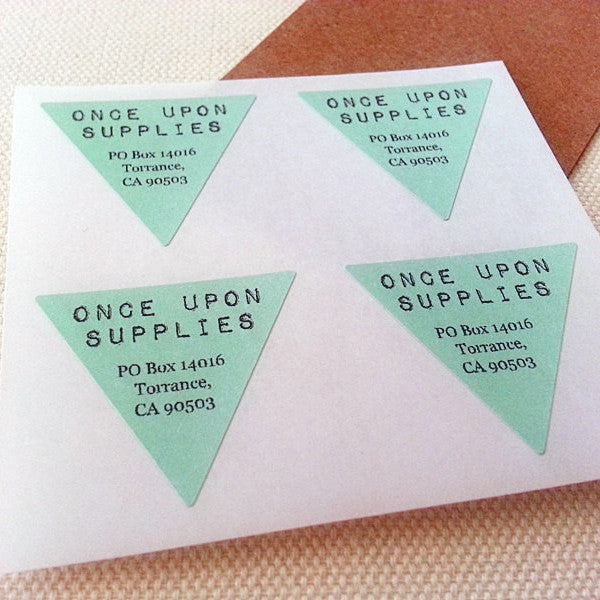 Return Address Labels Triangle Shape - Once Upon Supplies