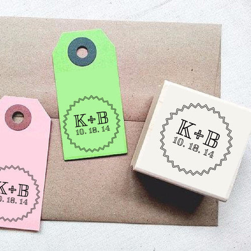 Custom Stamp with Starburst Border Design - Once Upon Supplies