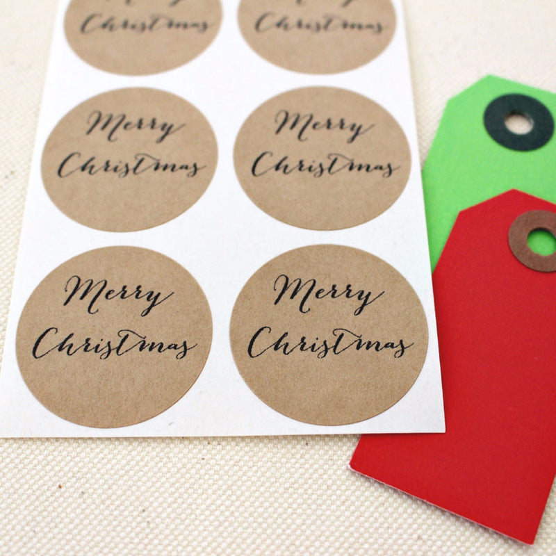 Merry Christmas Stickers - Once Upon Supplies