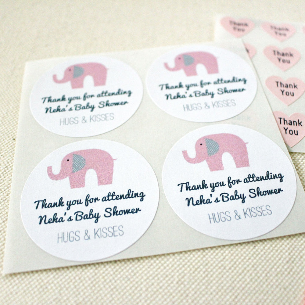 Personalised Baby Shower Party Gift Bag Sticker Label Seal In 4 Sizes Party Bags Party Supplies