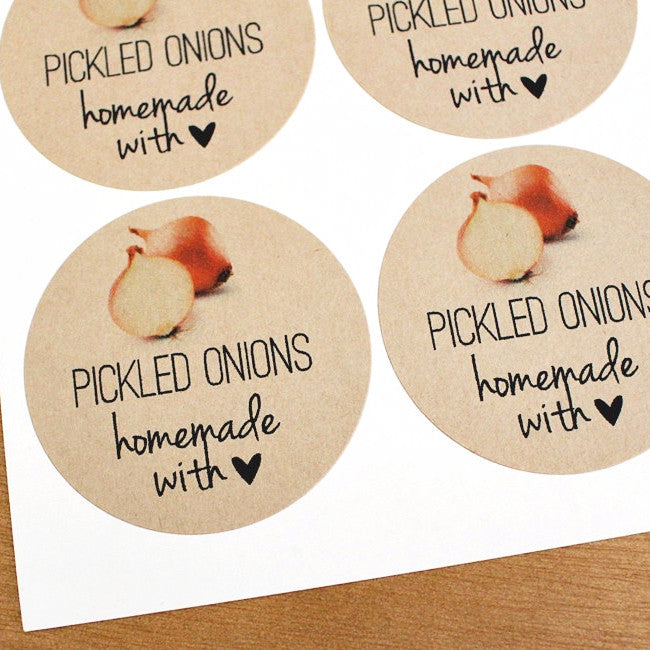 Pickled Onion Mason Jar Labels - Once Upon Supplies
