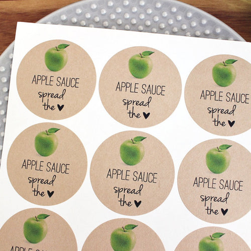 Apple Sauce Mason Jar Labels - Once Upon Supplies - 1