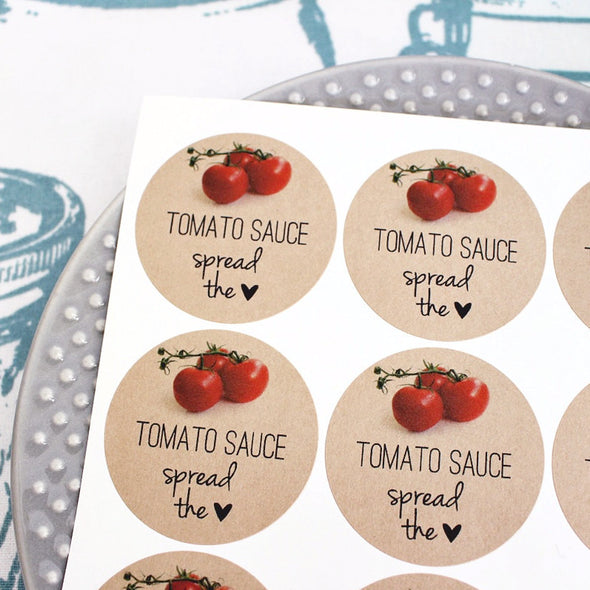 Tomato Sauce Mason Jar Canning Labels - Once Upon Supplies