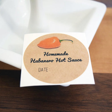 Habanero Hot Sauce Labels - Once Upon Supplies - 1