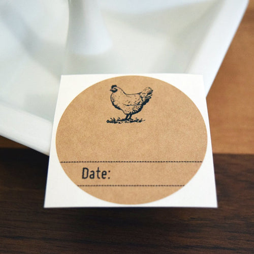 Chicken Kraft Brown Mason Jar Labels - Once Upon Supplies - 1