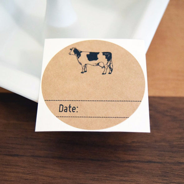 Dairy Cow Mason Jar Labels Milk Labels - Once Upon Supplies