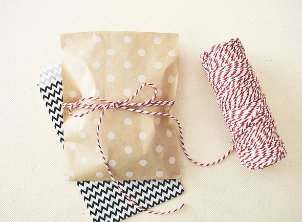 Kraft Brown Polka Dots Party Favor Bags - Once Upon Supplies - 2