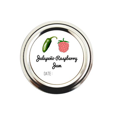 jalapeno raspberry jam canning labels - Once Upon Supplies