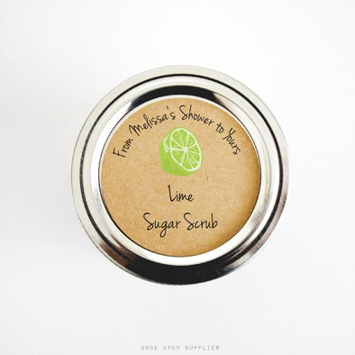 Lime Sugar Scrub Labels for Bridal Shower Favors