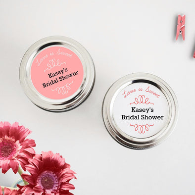 Bridal Shower Favor Labels Love is Sweet - Once Upon Supplies