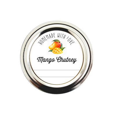 Mango Chutney Labels | Canning Jar Stickers | Once Upon Supplies