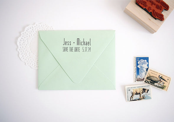 Modern Custom Stamp - Save the Date Stamp