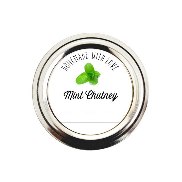 Mint Chutney Labels for Jars | Canning Stickers | Once Upon Supplies