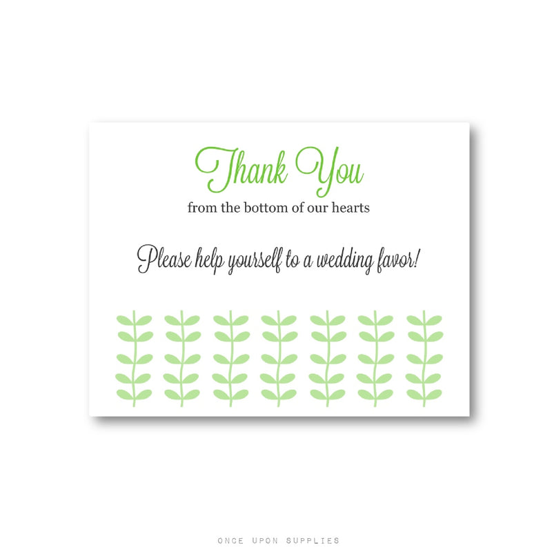 Modern Sprouts Please Take a Favor Sign Printable or Printed - Once Upon Supplies