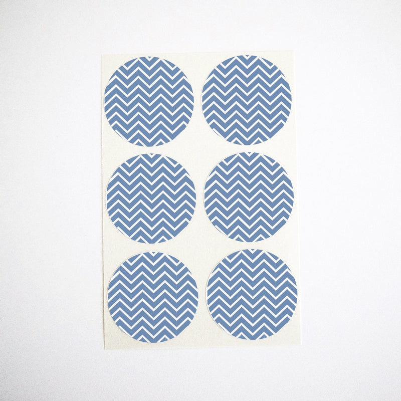 navy blue chevron stickers