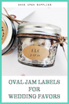 Oval Jam Labels for Canning Jars | Wedding Favor Stickers