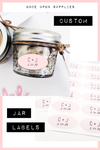 Custom Oval Jar Labels for Wedding and Party Favors | Once Upon Supplies