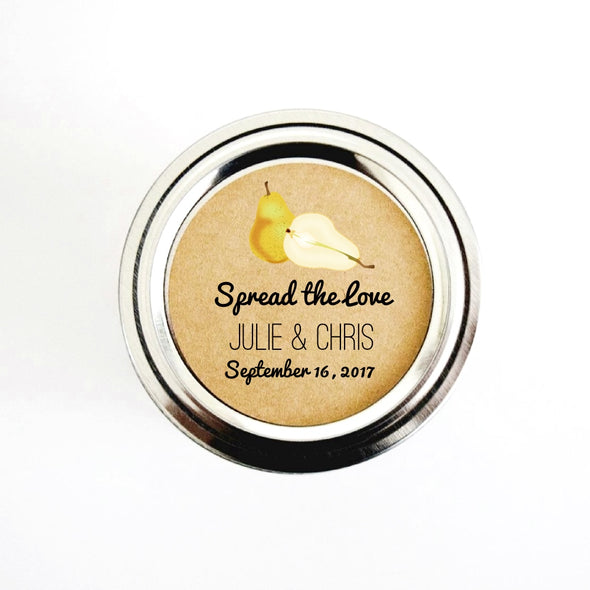 The perfect pair / pear wedding favor labels