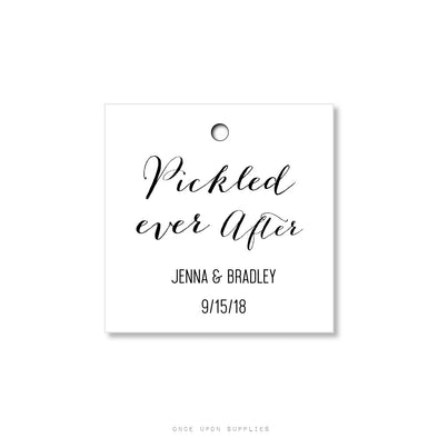 Pickled Ever After Tags for Wedding Favors - Custom Pickle Tags - Once Upon Supplies