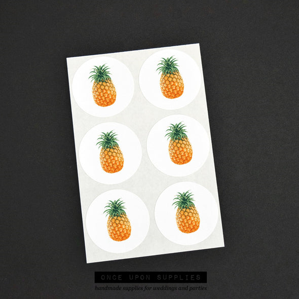 pineapple party favor stickers