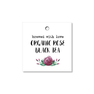 Brewed with Love Tea Favor Tags for Weddings, Bridal Showers and Parties - Once Upon Supplies