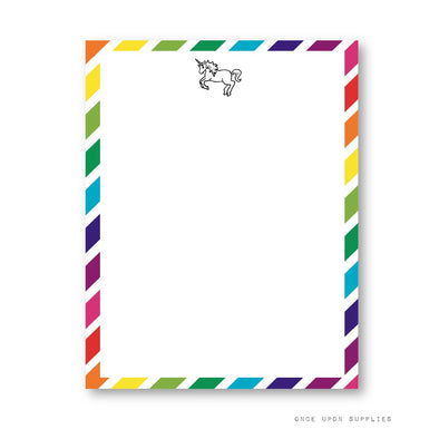 Rainbow Unicorn Birthday Party Simple Cards