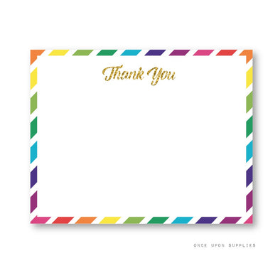 Rainbow Unicorn Birthday Party Thank You Cards