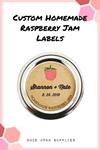 Custom Homemade Raspberry Jam Labels for Canning Jars