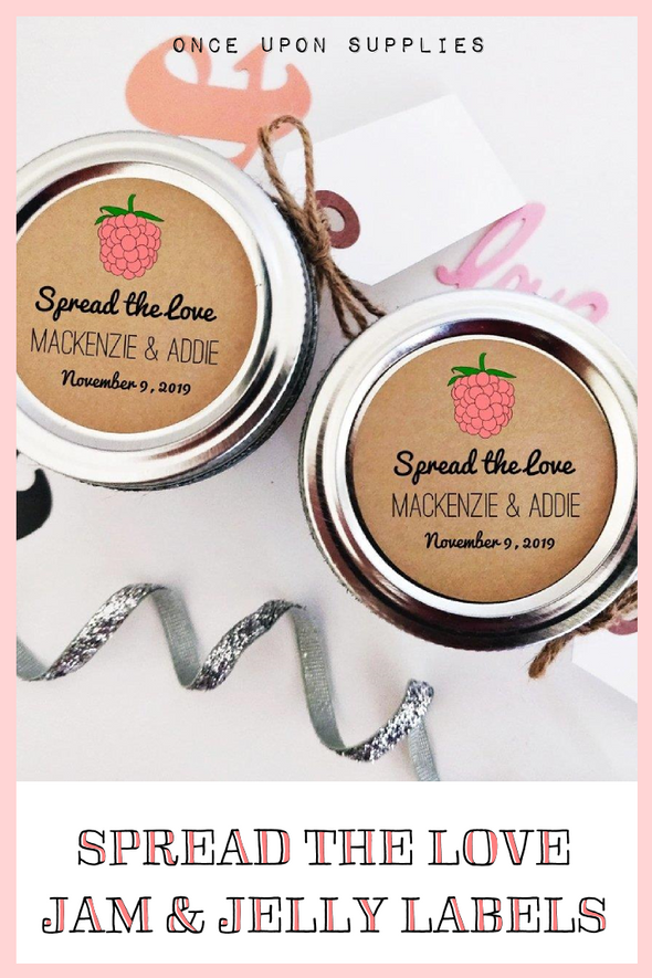 Spread the Love Jam & Jelly Labels for Wedding Favors