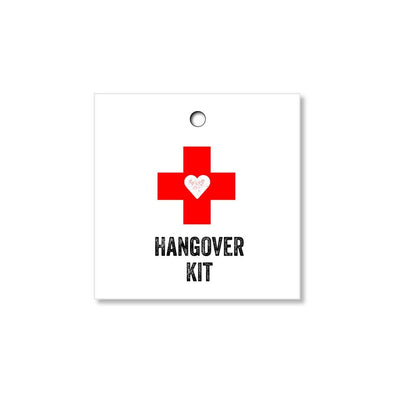 Hangover Kit Tags for Wedding Favors, Guest Welcome Gifts - Once Upon Supplies