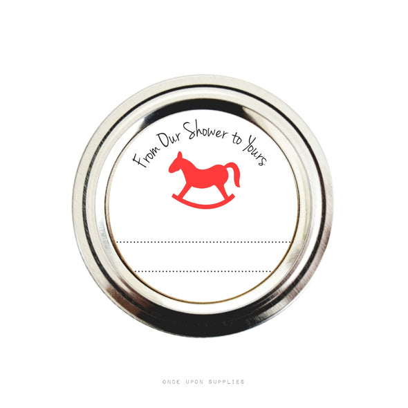 Rocking Horse Baby Shower Favor Labels