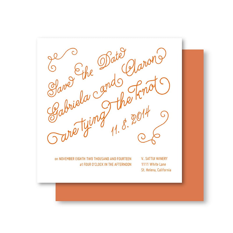 Rustic Whimsical Script Wedding Invitation Suite