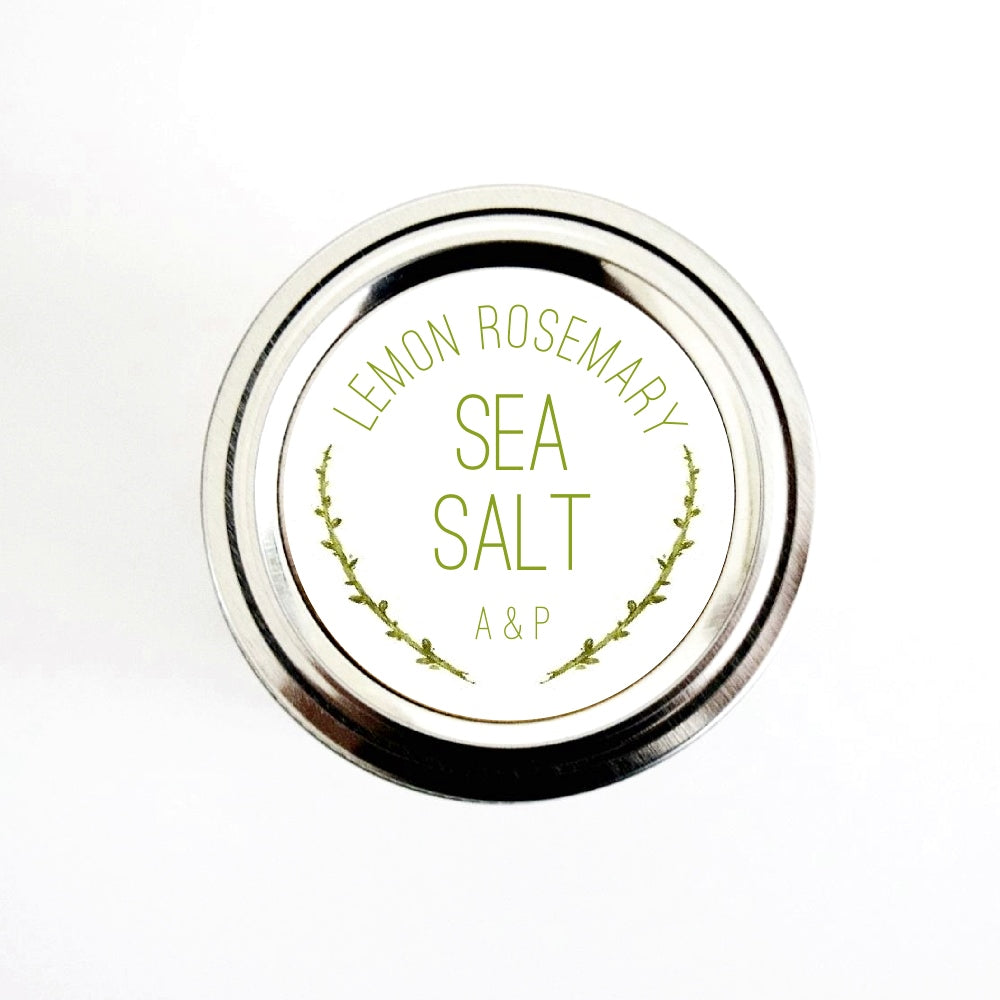 Rosemary Sea Salt Labels Stickers for Wedding Favors