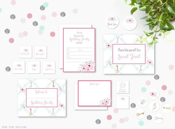 Secret Garden Birthday Party Invitation