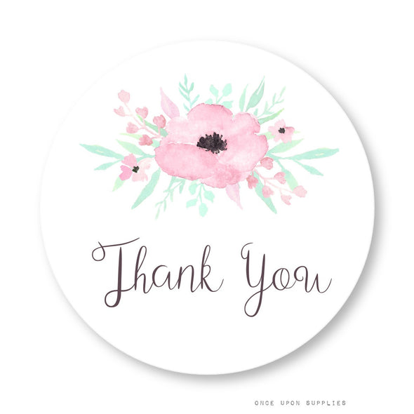 Secret Garden Thank You Stickers