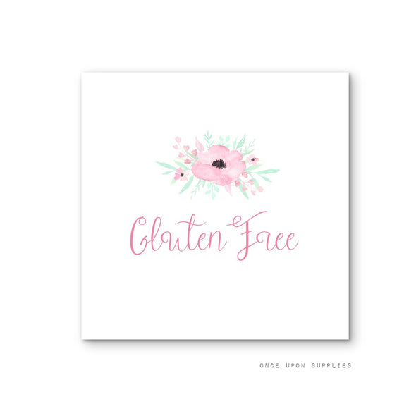 Secret Garden Birthday Party Food Labels for Allergy and Dietary Restriction