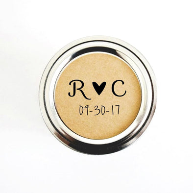 Minimalist Design Wedding Favor Labels