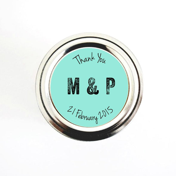 Wedding Thank You Labels for Canning Jars Wedding Favors