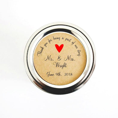 Simple, Minimal Personalized Wedding Favor Stickers