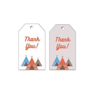 Southwestern Teepee Kids Party Gift Tags Printable