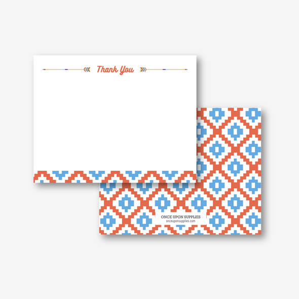 southwestern teepee thank you card printable