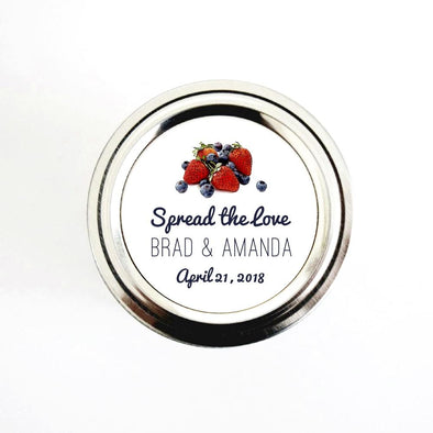 Spread the Love Mixed Berries Jam Wedding Favor Labels