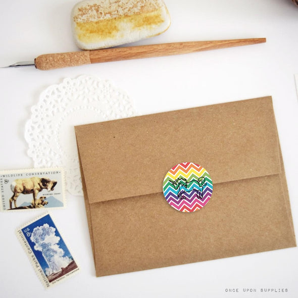 Unicorn Envelope Seals | Rainbow Unicorn Party | Once Upon Supplies