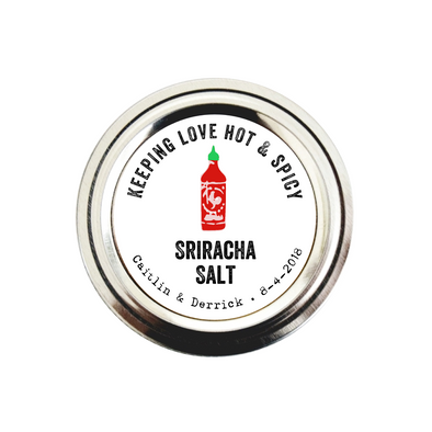 Sriracha Salt and Hot Sauce Wedding Labels for Favors | Once Upon Supplies
