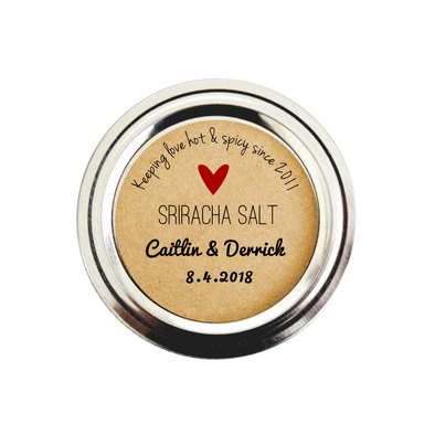 Sriracha Salt Wedding Favor Labels | Spice Labels | Once Upon Supplies