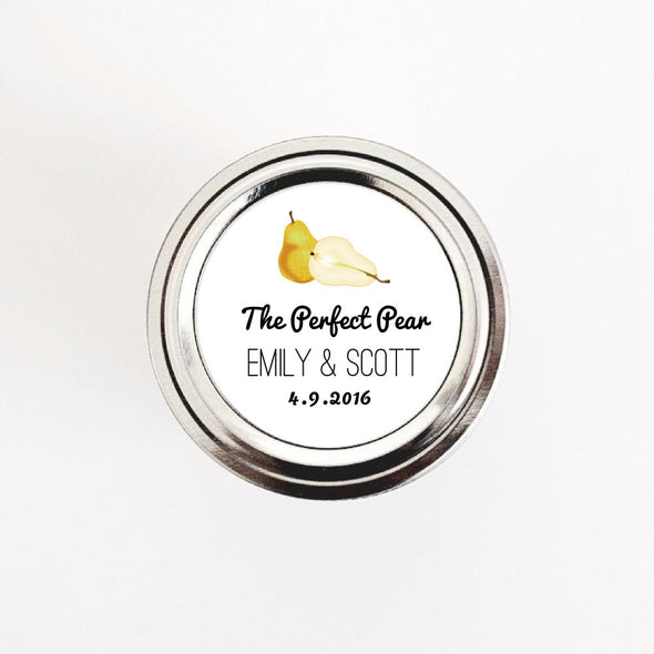 The Perfect Pear Wedding Jam Favor Labels - Once Upon Supplies