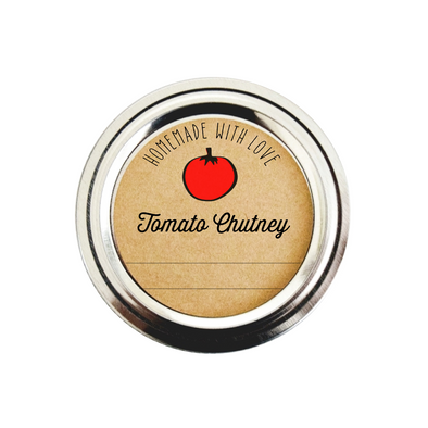 Homemade Tomato Chutney Labels | Once Upon Supplies